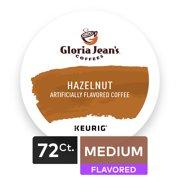 (4 Pack) Gloria Jean's Hazelnut Keurig Single-Serve K-Cup Pods, Medium Roast Coffee, 18 Count