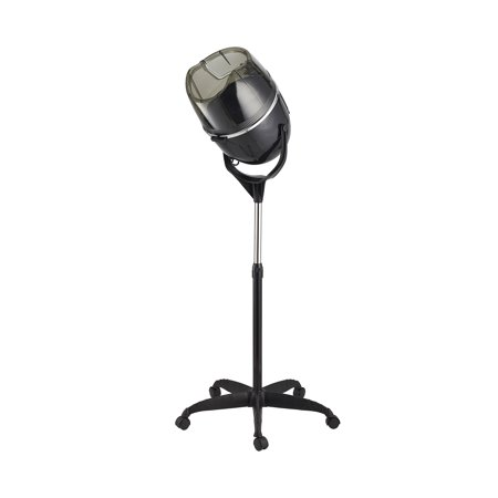 Professional 1000W Adjustable Hooded Floor Hair Bonnet Dryer Stand Up Rolling Base with Wheels Salon