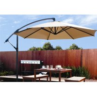 Barton Patio 10' Hanging Umbrella Off Set Outdoor Parasol, 4 colors