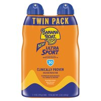 Banana Boat Ultra Sport Clear Sunscreen Spray SPF 30, 12 Oz Twin Pack, Packaging May Vary