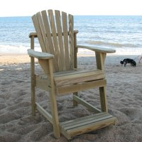 Weathercraft Designers Choice Treated Balcony Adirondack Chair with Footrest - Natural
