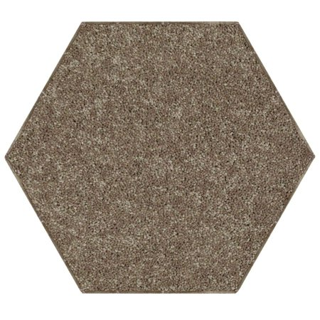 Home Queen Solid Color Area Rugs Brown - 12'