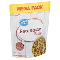 Great Value Real Bacon Pieces Mega Pack, 9 oz