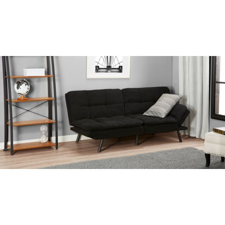 Mainstays Memory Foam Futon Multiple Finishes Walmart Com