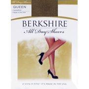 da5d252e7 Berkshire Women s Plus-Size Queen All Day Sheer Non-Control Top Pantyhose -  Sandalfoot