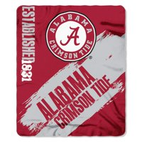 Alabama Crimson Tide Painted Fleece Throw