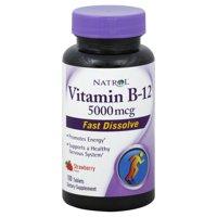 Natrol Fast Dissolving Vitamin B12 5000 mcg Tablets, 100 Ct