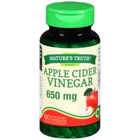 Nature's Truth® Apple Cider Vinegar 650mg Quick Release Capsules Dietary Supplement 60 ct Bottle