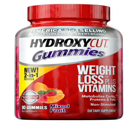 Hydroxycut Diet Supplement, Mixed Fruit Gummies, 90 Ct