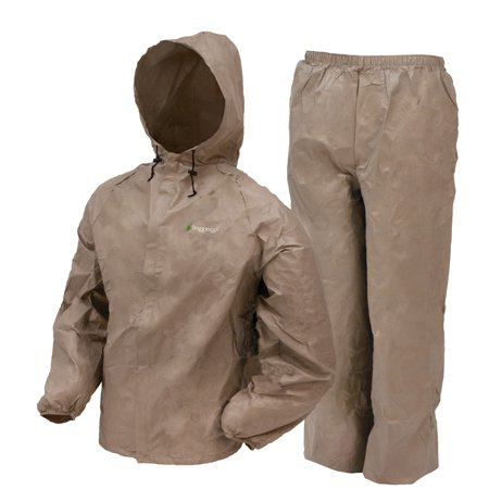 Frogg Toggs Ultra-Lite2 Waterproof Breathable Rain Suit, Men's, Khaki, Size Small (Industrial Rain Suit)