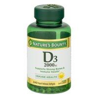 Nature's Bounty D3, 2000 IU Rapid Release Softgels, 240 Ct