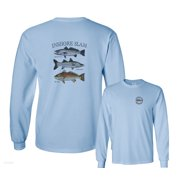Inshore Slam Spotted Seatrout Common Snook Red Drum Fishing Long Sleeve T-Shirt