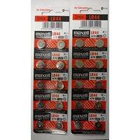 Maxell LR44 - A76 Alkaline Button Battery 1.5V - 20 Pack