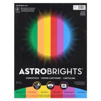 """Astrobrights Colored Cardstock, 8.5"""" x 11"""", 65 lb., Primary Assort., 60 Shts"""