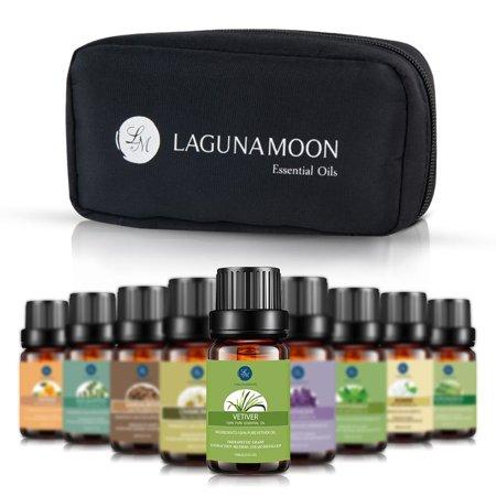 - Essential Oils Set,Aromatherapy 10 Essential Oils Set- Chamomile Sandalwood Lavender Tea Tree Peppermint Eucalyptus Lemongrass Vetiver Jasmine Orange Therapeutic Grade