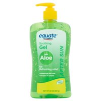 (2 pack) Equate After Sun Soothing Gel with Aloe, 20 oz