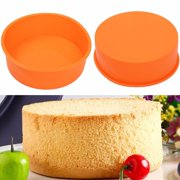 Meigar 7Inches Christmas Round Silicone Cake Mold Pan Muffin Pizza Pastry Baking Tray Mould Today's Special
