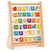 Melissa & Doug ABC-123 Abacus, Classic Wooden Educational Toy with 36 Letter and Number Tiles