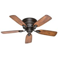"Hunter 42"" Low Profile IV New Bronze Ceiling Fan"