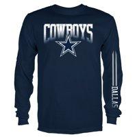 Men's Navy Dallas Cowboys Team Logo Mack Long Sleeve T-Shirt