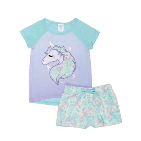 Graphic Short Sleeve Tee and Short, 2-Piece Pajama Set (Little Girls & Big (100% Perfect Girl)
