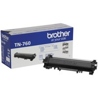 Brother Genuine Cartridge TN760 High-Yield Toner, Mono-Laser/Black - 3,000 pages