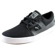 Puma El Ace Remastered Men Round Toe Canvas Black Sneakers 3ef478b09