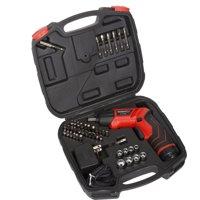 Stalwart 75-PT1000 45-Piece 3.6V Rechargeable Pivoting Screwdriver Set