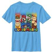 da7538f12e Nintendo Boys' Super Mario Characters in Stripes T-Shirt