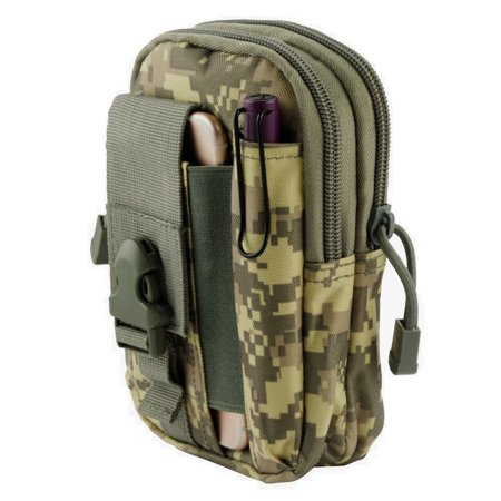 Camouflage Utility Uniform - ZTE Majesty Pro / Majesty Pro Plus Pouch - Tactical EDC MOLLE Utility Gadget Holder Pack Belt Clip Waist Bag Phone Carrying Holster - (ACU Camo) and Atom Cloth