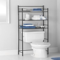 Mainstays 3-Shelf Bathroom Space Saver with Liner, Satin Nickel Finish
