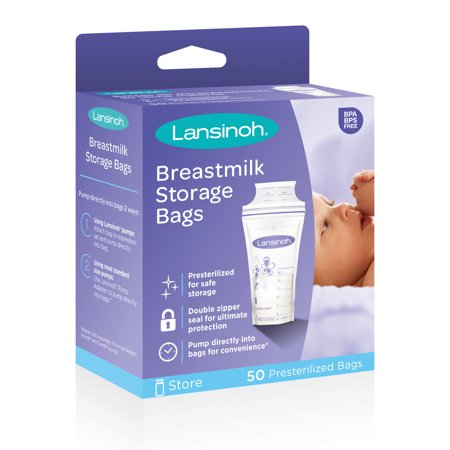 Lansinoh Breast Milk Storage Bags, 50 Count Breast Milk Storage Kit