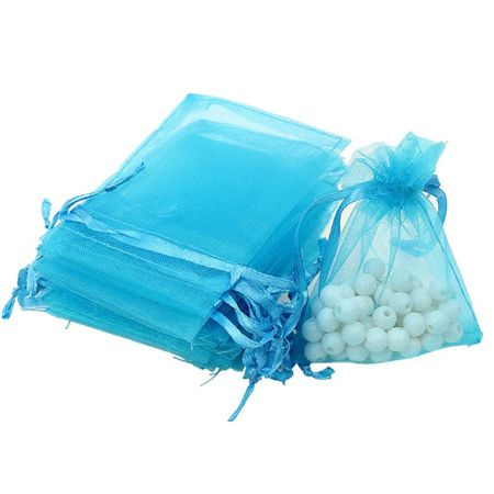 100PCS Organza Drawstring Mini Gift Bags Wedding Favors - Welcome Wedding Bags
