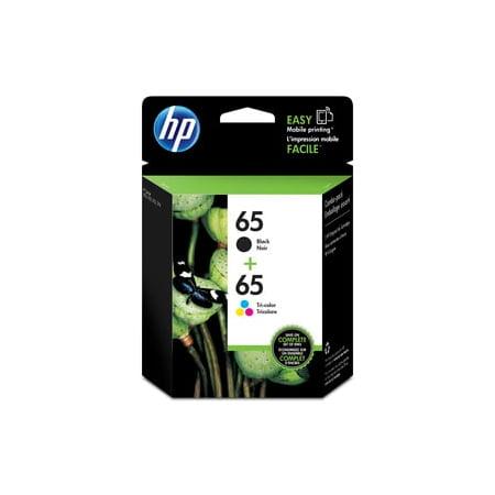 HP 65 Tri-color/Black Original Ink Cartridges, 2-Pack ...