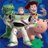 "Disney Pixar TOY STORY Royal Plush Raschel Throw Baby Blanket 40"" x 50"""