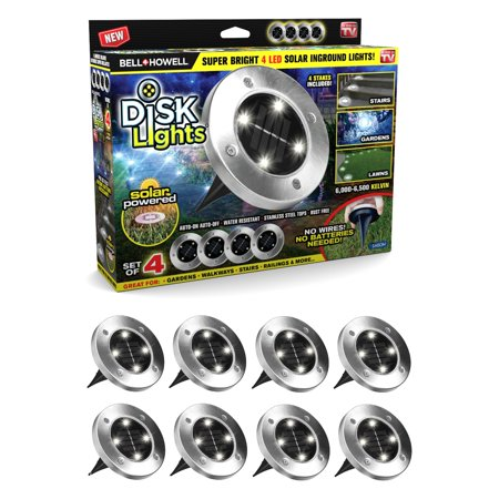 - Bell + Howell Disk Lights - Solar Powered LED Pathway Lights – As Seen on TV! 8 PACK