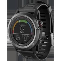 GARMIN Mfg#: 010-N1338-00 Training Watch, fenix 3, Gray, REFURB