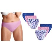 a15bb15853d8 6 Pack of Hanes Women's JMS Core Cotton Hi-Cut Panty with Wicking