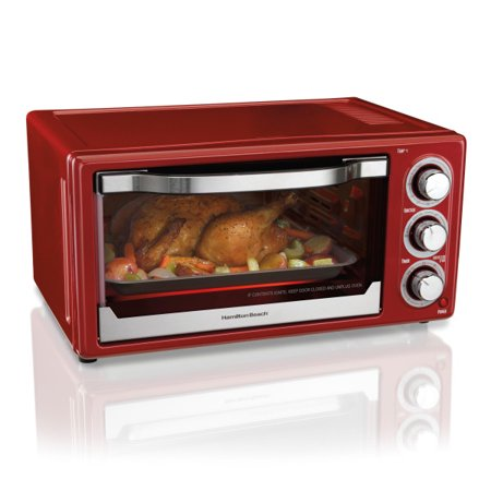 Hamilton Beach 6 Slice Toaster Convection/Broiler Oven | Red Model# 31514 (Toaster Oven Set)