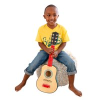 KidKraft Lil' Symphony Wooden Play Guitar, Kids Musical Instrument Toy with Real Strings