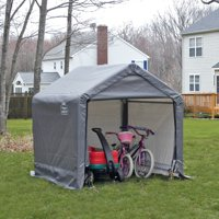 Shed-in-a-Box 6' x 6' x 6' Peak Style Storage Shed, Gray