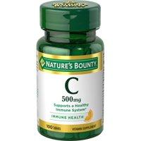 Nature's Bounty Vitamin C, 500 Mg Tablets, 100 Ct