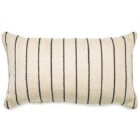 MoDRN Stripe Outdoor Throw Pillow - 14L x 24W - Gray/Ivory