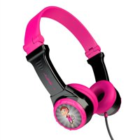 JLab Audio JBuddies Kids - folding, Volume Limiting Headphones, GUARANTEED FOR LIFE - Black / Pink