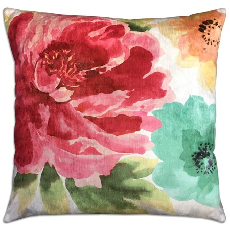 - Mainstays Watercolor Floral Decorative Throw Pillow, 18