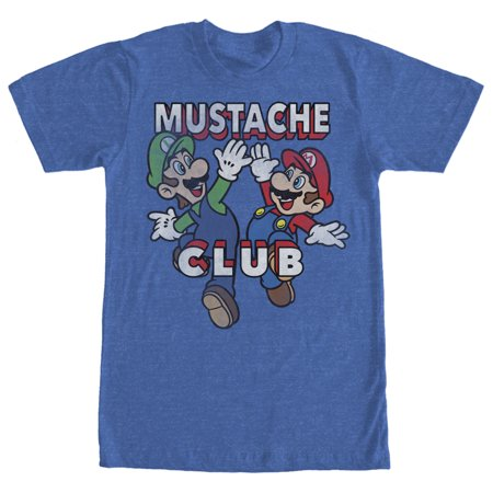 Nintendo Men's Mario and Luigi Mustache Club T-Shirt