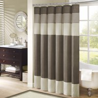 Home Essence Salem Pieced Faux Silk Shower Curtain