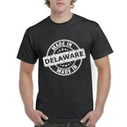 Made in DE Delaware Map Flag Sussex Kent Home of University of Delaware UD Mens Shirts