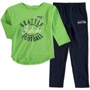Seattle Seahawks Girl s Toddler Fan Gear Football Sweetheart Long Sleeve T-Shirt  and Pant Set 3d64f4fb4