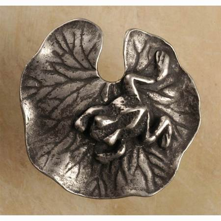 Lily pad-med knob (Set of 10) (Antique Bronze)